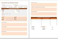 Free Incident Report Templates & Forms | Smartsheet inside Serious Incident Report Template