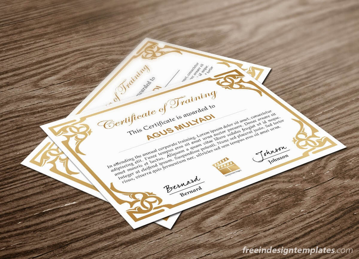 Free Indesign Certificate Template #1 | Free Indesign With Regard To Indesign Certificate Template