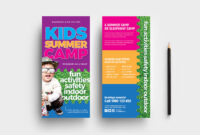 Free Kid's Camp Flyer & Brochure Template In Psd, Ai throughout Summer Camp Brochure Template Free Download