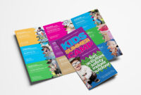 Free Kid's Camp Flyer & Brochure Template In Psd, Ai with Summer Camp Brochure Template Free Download