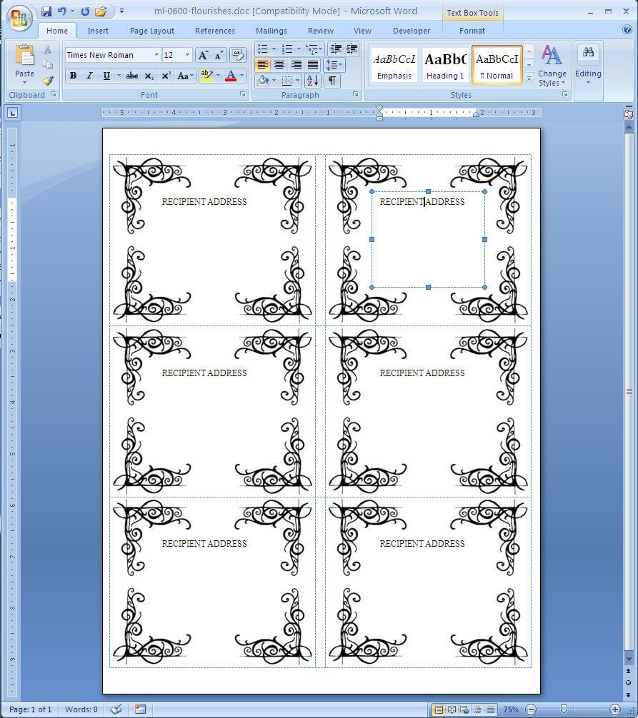 Free Label Template For Word Avery Label Templates Microsoft Within Free Label Templates For Word