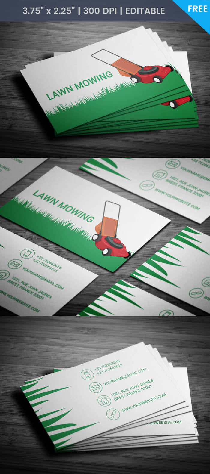 Free Lawn Care Business Card With Lawn Care Business Cards Templates Free