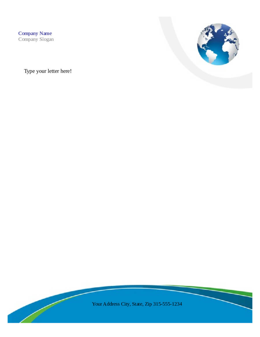 Free Letterhead Templates For Microsoft Word Intended For Free Letterhead Templates For Microsoft Word