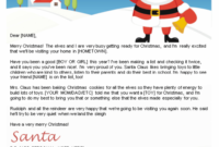 Free Letters From Santa | Santa Letters To Print At Home In with Letter From Santa Template Word