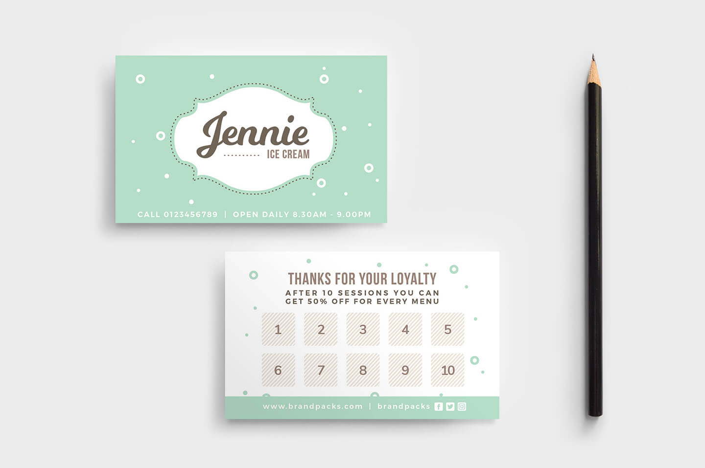 Free Loyalty Card Templates - Psd, Ai & Vector - Brandpacks For Membership Card Template Free