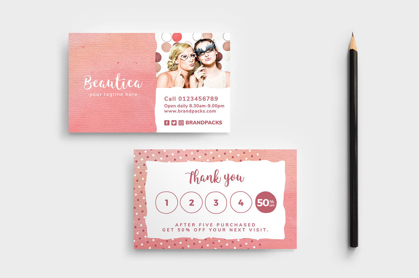 Free Loyalty Card Templates - Psd, Ai & Vector - Brandpacks In Loyalty Card Design Template