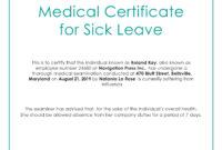 Free Medical Certificate For Sick Leave | Medical, Doctors in Australian Doctors Certificate Template