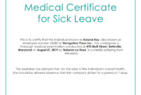 Free Medical Certificate For Sick Leave | Medical, Doctors inside Certificate Of Service Template Free