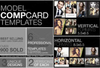 Free Microsoft Word Comp Card Template Model Photoshop Psd in Free Model Comp Card Template