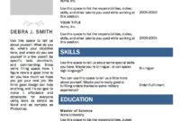 Free Microsoft Word Resume Template   Microsoft Resume with Microsoft Word Resumes Templates