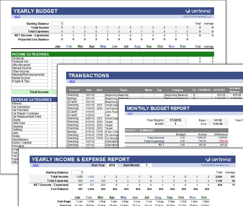 Free Money Management Template For Excel Inside Fleet Management Report Template