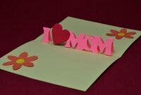 Free Mother's Day Pop Up Card Template And Tutorial | Places With Templates For Pop Up Cards Free