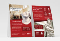 Free Museum Flyer Templates – Psd, Ai & Vector – Brandpacks in Ai Brochure Templates Free Download