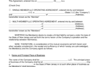 Free New Jersey Llc Operating Agreement Templates – Pdf Within Llc Annual Report Template