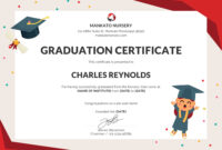 Free Nursery Graduation Certificate Template In Psd Ms for 5Th Grade Graduation Certificate Template