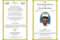 Free Obituary Template | Funeral Program Template Free with Free Obituary Template For Microsoft Word