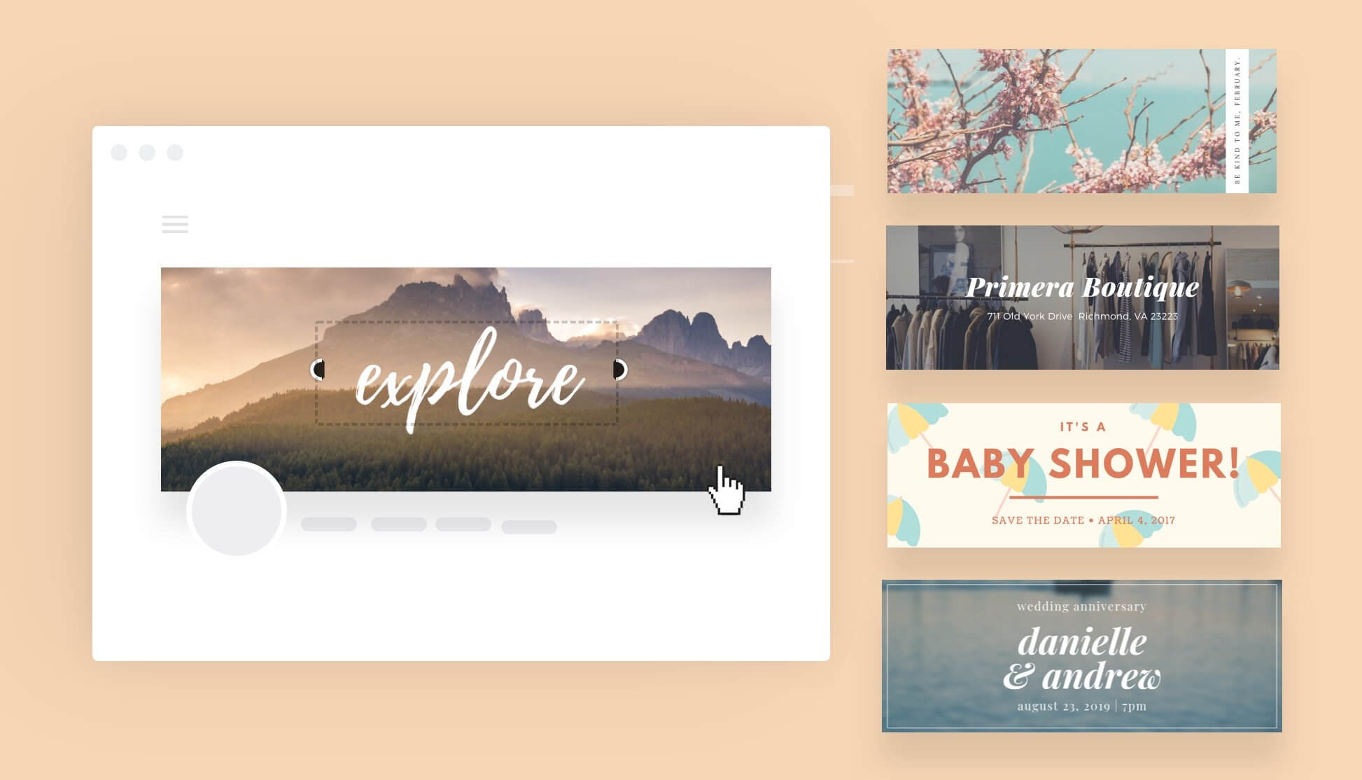 Free Online Banner Maker: Design Custom Banners In Canva Intended For Free Online Banner Templates