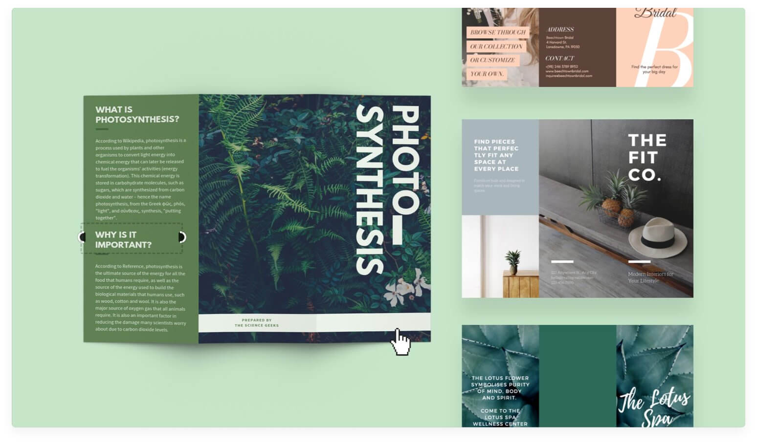 Free Online Brochure Maker: Design A Custom Brochure In Canva With Online Free Brochure Design Templates