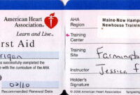 Free Online Cpr Certification Card : Local Plasti Dip within Cpr Card Template