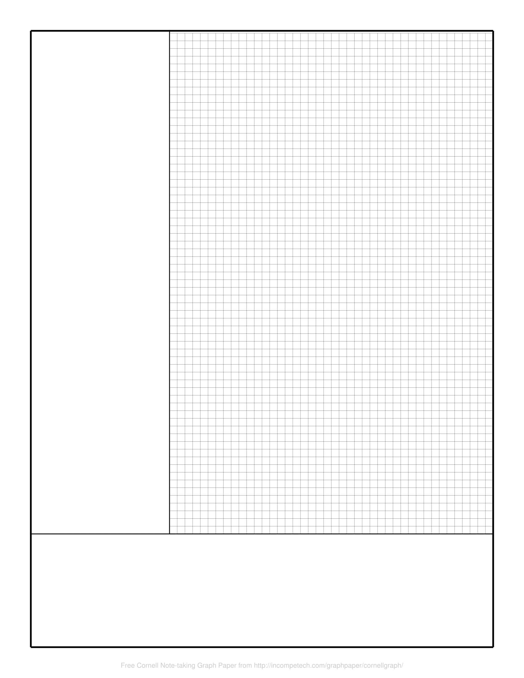 Free Online Graph Paper / Cornell Note-Taking Graph pertaining to Cornell Note Template Word