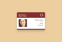 Free Online Id Maker: Design A Custom Id In Canva With High School Id Card Template