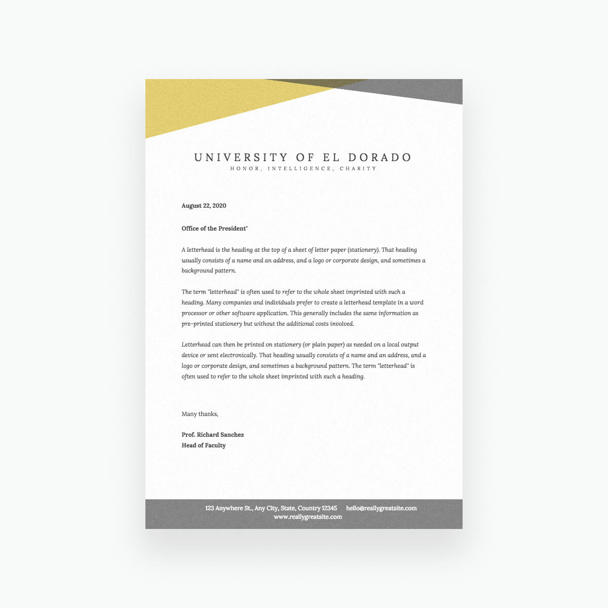 Free Online Letterhead Maker With Stunning Designs - Canva throughout Headed Letter Template Word