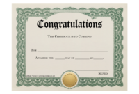 Free Ordination Certificate Template – Atlantaauctionco throughout Free Ordination Certificate Template