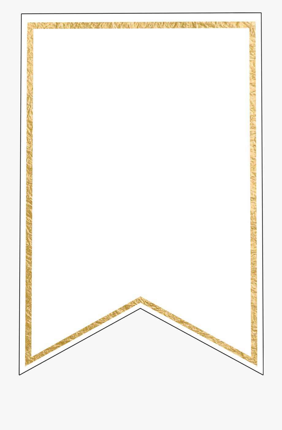 Free Pennant Banner Template, Download Free Clip Art, - Gold for Free Printable Pennant Banner Template
