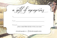 Free Photography Gift Certificate For Free Photography Gift Certificate Template
