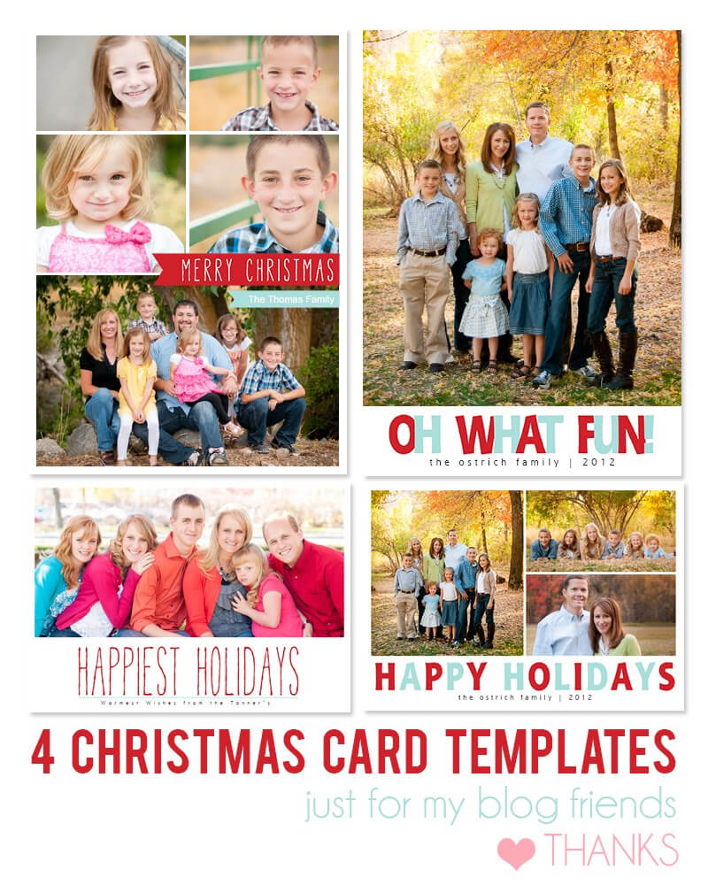 Free Photoshop Holiday Card Templates From Mom And Camera For Free Photoshop Christmas Card Templates For Photographers