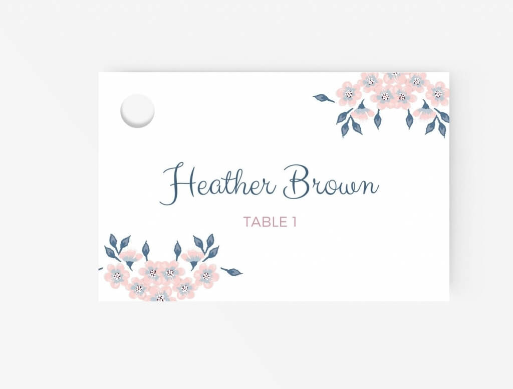 Free Place Card Template | Business Plan Template intended for Free Place Card Templates Download
