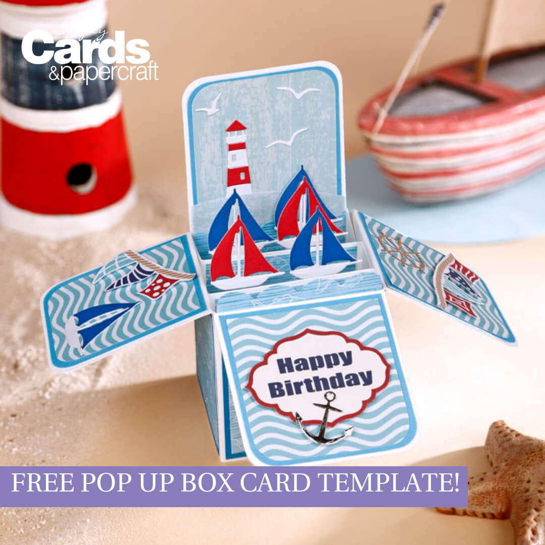 Free Pop Up Box Card Template - Simply Cards & Papercraft for Templates For Pop Up Cards Free