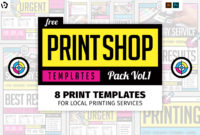 Free Print Shop Templates For Local Printing Services with regard to Free Templates For Cards Print