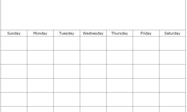 Free Printable 1 Month Calendar | You Can Find This Calendar for Blank One Month Calendar Template