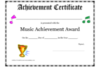 Free Printable Achievement Award Certificate Template pertaining to Gymnastics Certificate Template