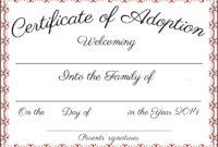 Free Printable Adoption Certificate   Mult-Igry inside Adoption Certificate Template
