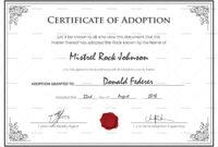 Free Printable Adoption Certificate | Mult-Igry regarding Pet Adoption Certificate Template