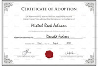 Free Printable Adoption Certificate | Mult Igry Within Blank Adoption Certificate Template