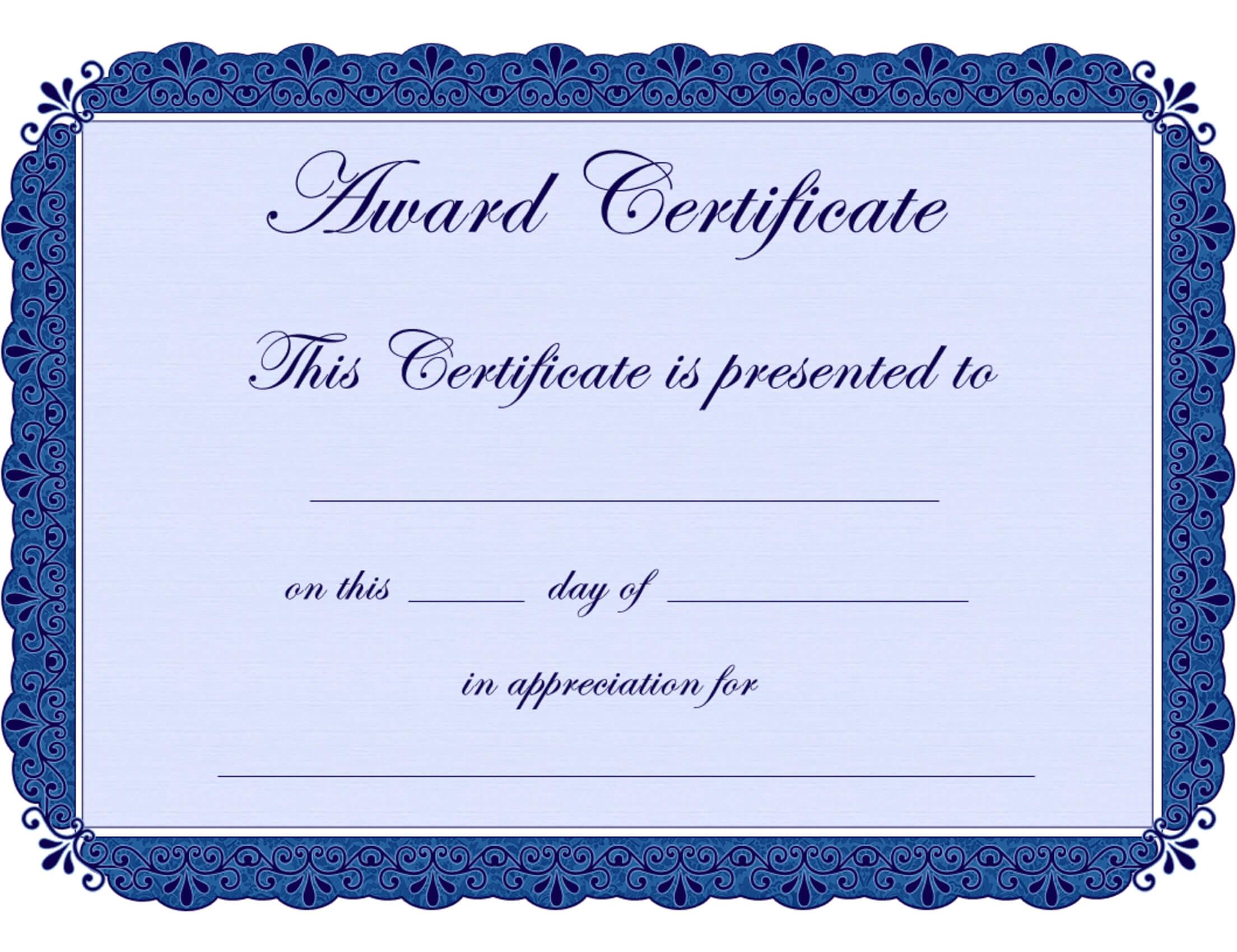 Free Printable Award Certificate Borders |  Award throughout Free Printable Funny Certificate Templates