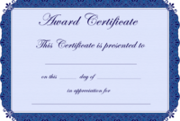 Free Printable Award Certificate Borders    Award with Certificate Of Achievement Template Word