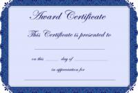 Free Printable Award Certificate Borders    Award with regard to Blank Award Certificate Templates Word