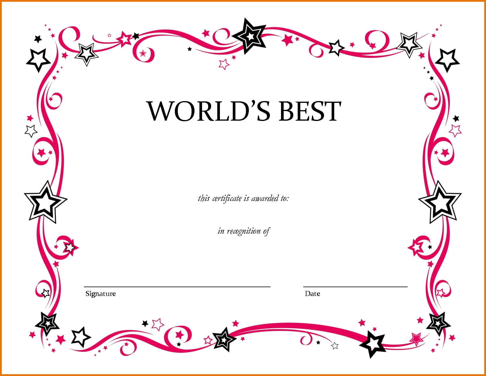 Free Printable Award Certificate Certificates For Elementary for Free School Certificate Templates