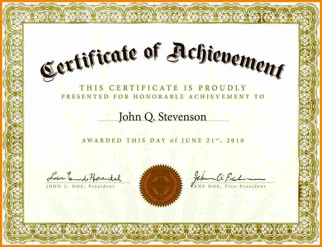 Free Printable Award Certificate Certificates For Elementary throughout School Certificate Templates Free