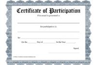 Free Printable Award Certificate Template – Bing Images for Templates For Certificates Of Participation