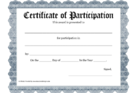 Free Printable Award Certificate Template – Bing Images in Sample Certificate Of Participation Template