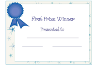 Free Printable Award Certificate Template | Free Printable pertaining to First Place Certificate Template