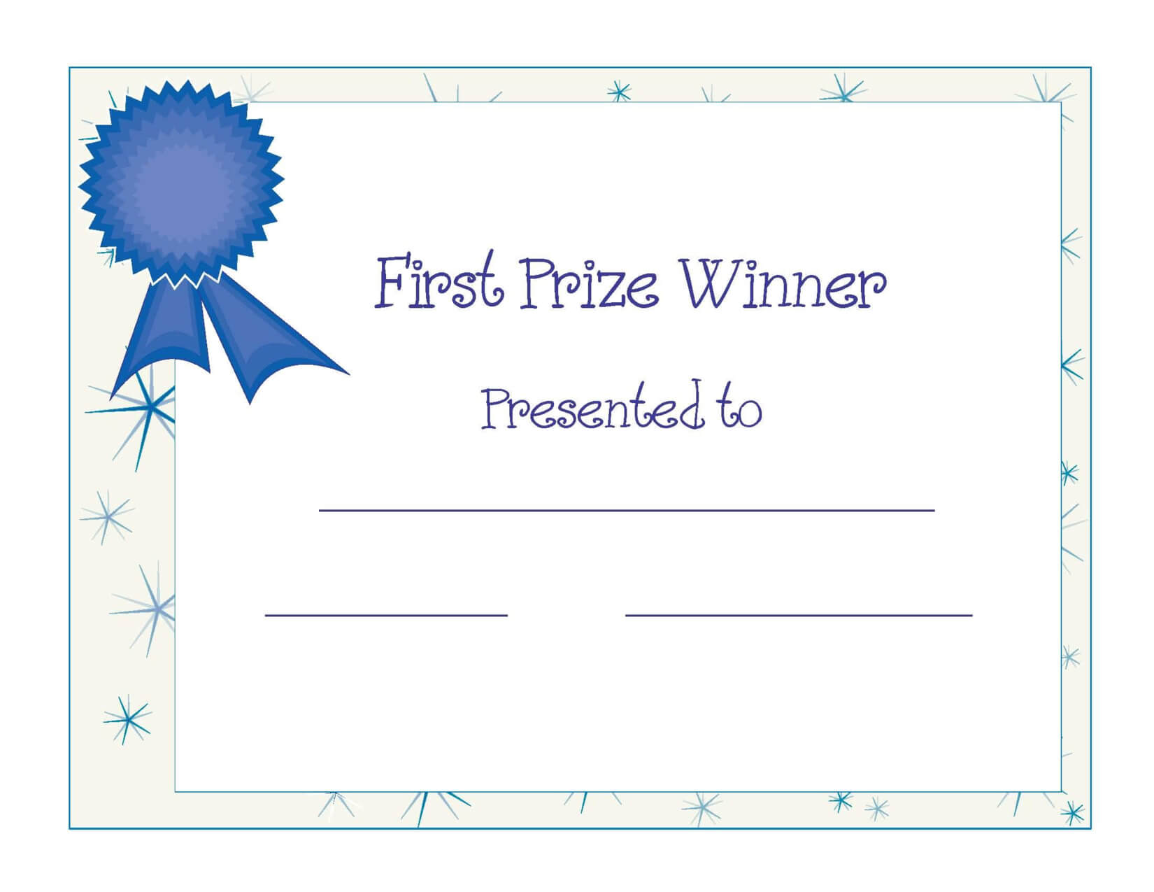 Free Printable Award Certificate Template | Free Printable With Free Printable Certificate Templates For Kids