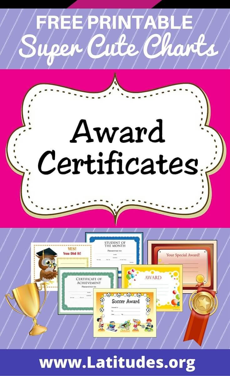Free Printable Award Certificates For Kids | Homeschool In Sports Day Certificate Templates Free