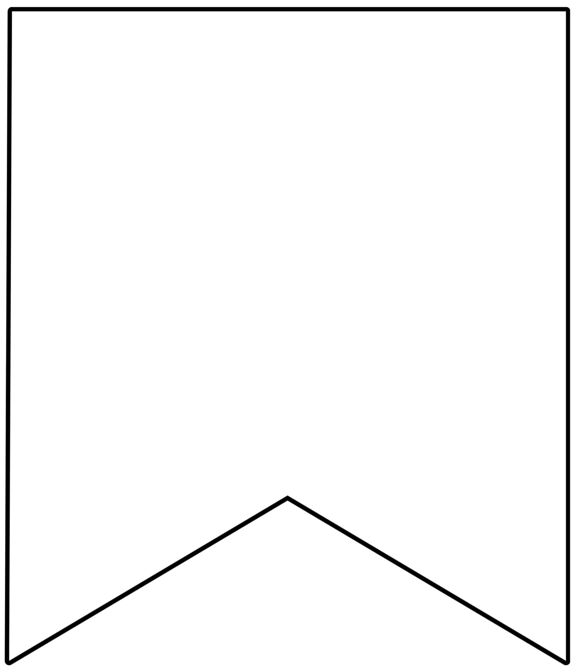 Free Printable Banner Templates {Blank Banners} - Paper With Printable Pennant Banner Template Free