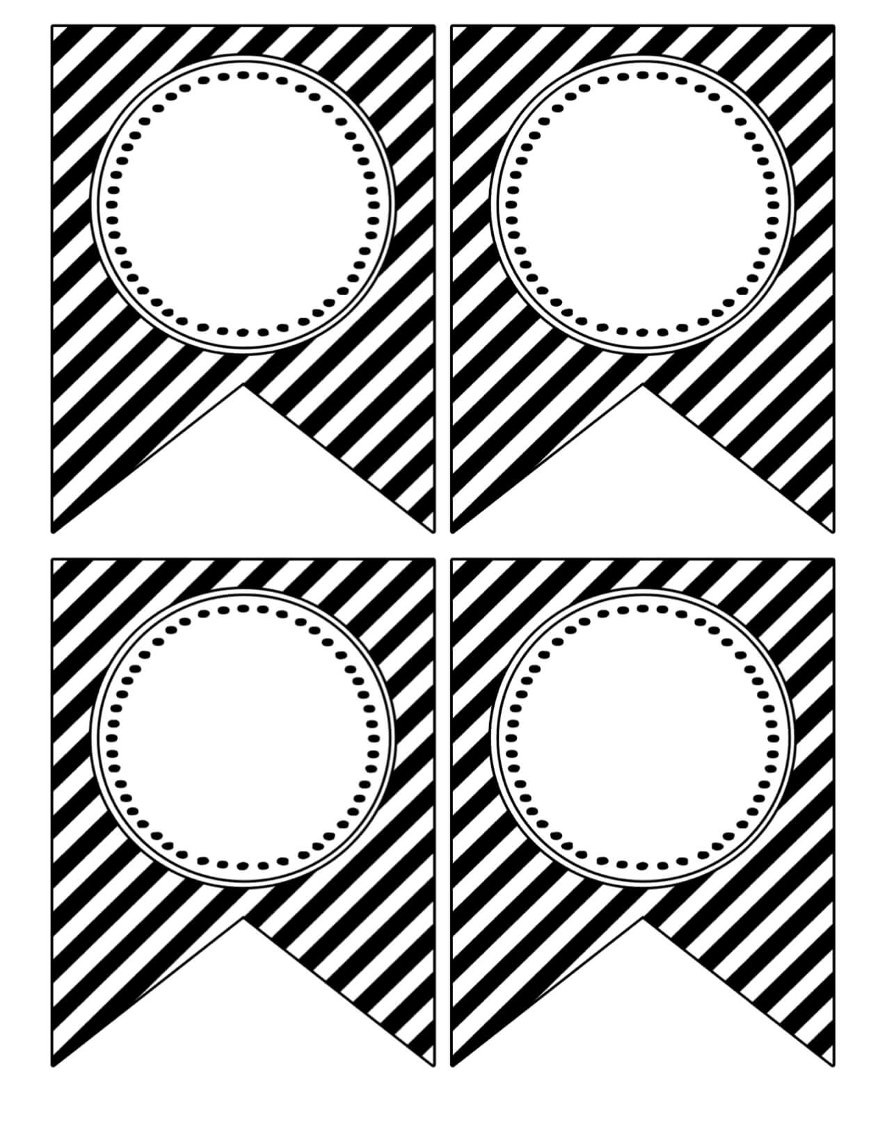 Free Printable Banner Templates {Blank Banners} - Paper within Free Printable Party Banner Templates